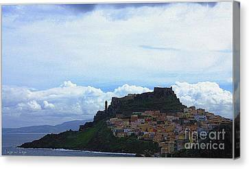 Arriving @castelsardo Canvas Print