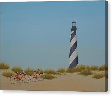 Arriving At Cape Hatteras Canvas Print