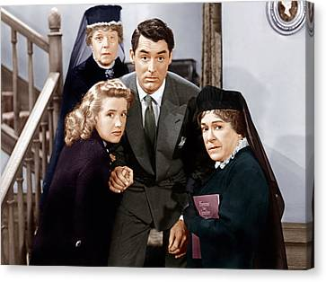 Arsenic And Old Lace, From Left Canvas Print by Everett