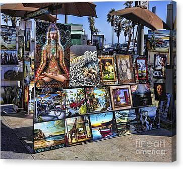 Beach Hop Canvas Print - Art 4 Sales Venice Beach by Chuck Kuhn