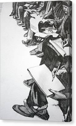 Art Class In Afghanistan Canvas Print by Jan Swaren