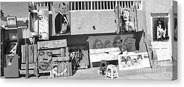 Beach Hop Canvas Print - Art Dealer Venice Beach by Chuck Kuhn