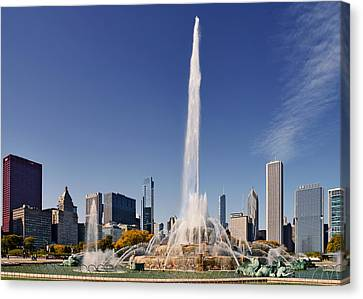 Grant Park Canvas Print - Art Deco Buckingham Fountain Chicago by Christine Till