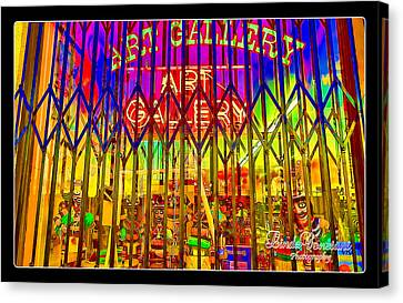 Canvas Print featuring the photograph Art Gallery by Linda Constant