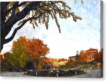 Art In The Fall Canvas Print by Andrew Dinh