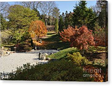 Art In The Gardens Canvas Print by Denise Ellis
