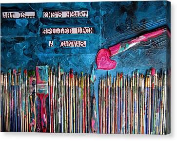 Art Is Blue Version Canvas Print by Patti Schermerhorn