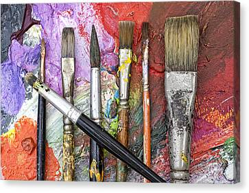 Art Is Messy 6 Canvas Print by Carol Leigh