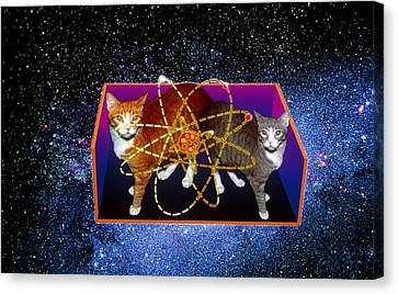 Art Of Schrodinger's Cat Experiment Canvas Print by Volker Steger