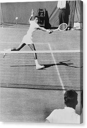 Arthur Ashe, 1943-1993, Playing Tennis Canvas Print by Everett