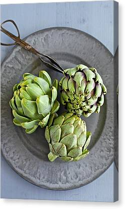 Artichokes Canvas Print by Ingwervanille