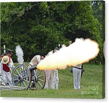 Artillery Demonstration Canvas Print by JT Lewis