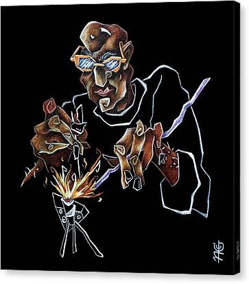Artist Murano Glass Hand Made - Disegno Scuola Vetro Artistico Italia Canvas Print