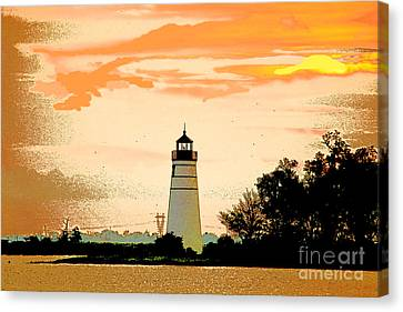 Canvas Print featuring the photograph Artistic Madisonville Lighthouse by Luana K Perez