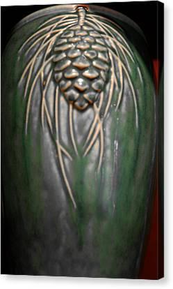 Artistic Pine Cone Vase Canvas Print by LeeAnn McLaneGoetz McLaneGoetzStudioLLCcom