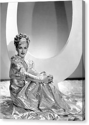 Gold Lame Canvas Print - Artists And Models Abroad, Joan Bennett by Everett