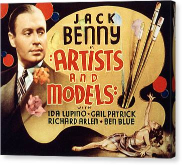 Artists And Models, Jack Benny, 1937 Canvas Print by Everett