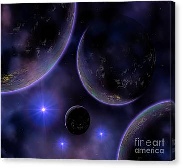 Artists Concept Illustrating A Cluster Canvas Print by Mark Stevenson