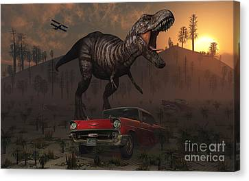 Artists Concept Illustrating Canvas Print by Mark Stevenson
