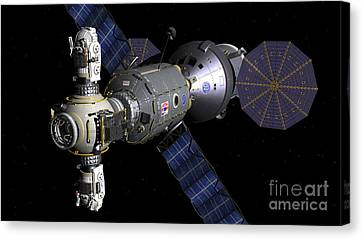 Artists Concept Of A Deep Space Vehicle Canvas Print