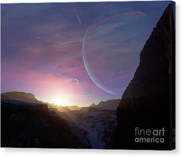 Artists Concept Of A Scene Canvas Print by Brian Christensen