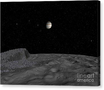 Artists Concept Of A View Canvas Print by Walter Myers