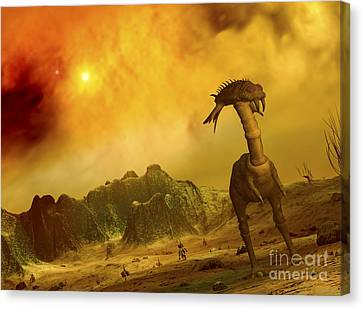 Artists Concept Of An Alien Planet Canvas Print by Walter Myers