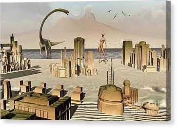Artists Concept Of An Alien World Canvas Print by Mark Stevenson