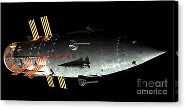Artists Concept Of An Orion-drive Canvas Print by Rhys Taylor
