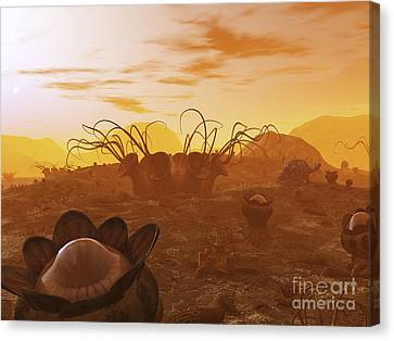 Artists Concept Of Animal And Plant Canvas Print
