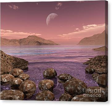 Artists Concept Of Archean Canvas Print by Walter Myers