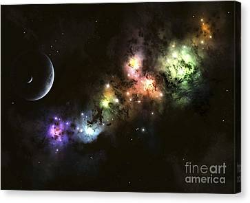 Artists Concept Of Planet Carenteen Canvas Print by Kevin Lafin