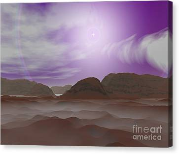 Artists Concept Of The Atmosphere Canvas Print by Walter Myers