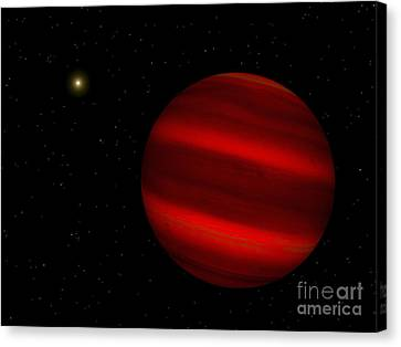Gliese Canvas Print - Artists Concept Of The Brown Dwarf by Walter Myers
