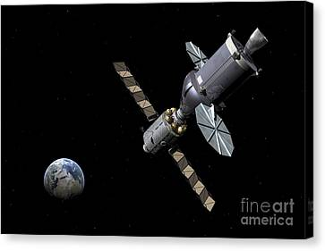 Artists Concept Of The Deep Space Canvas Print by Walter Myers
