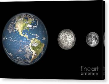 Artists Concept Of The Earth, Mercury Canvas Print by Walter Myers