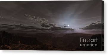 Sun Rays Canvas Print - Artists Concept Of The Sun Rising by Frieso Hoevelkamp