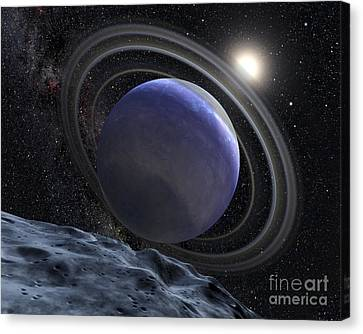 Artists Illustration Of An Extrasolar Canvas Print by Stocktrek Images