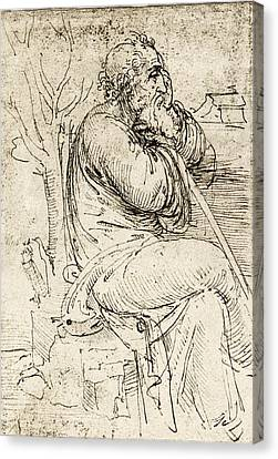 Artwork By Leonardo Da Vinci Canvas Print by Sheila Terry