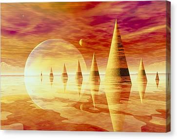 Artwork Of An Alien Landscape Canvas Print by Mehau Kulyk