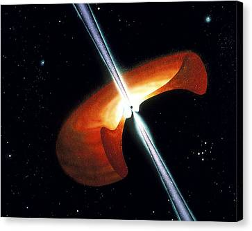 Artwork Showing A Mechanism For Gamma-ray Bursts Canvas Print by Nasa