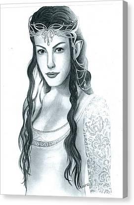 Arwen Undomiel Canvas Print by Crystal Rosene