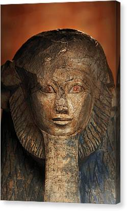 As A Sphinx, Hatshepsut Displays Canvas Print by Kenneth Garrett