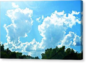 As Blue As The Sky Can Be Canvas Print by Hannah Miller