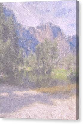 As If Monet Painted Yosemite Canvas Print by Heidi Smith