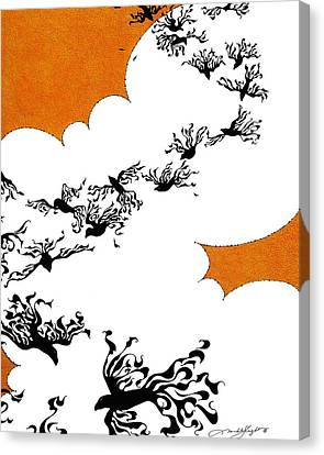 As The Crows Fly Canvas Print