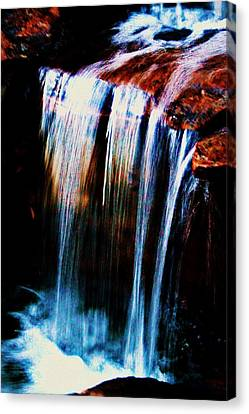 As The Water Falls Canvas Print by Hannah Miller