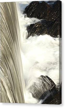 As The Water Falls Canvas Print by Karol Livote