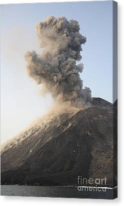Ash Cloud From Vulcanian Eruption Canvas Print by Richard Roscoe