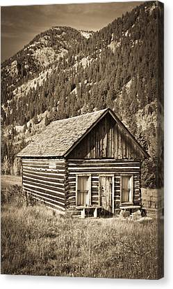 Ashcroft Ghost Town Canvas Print by Adam Pender